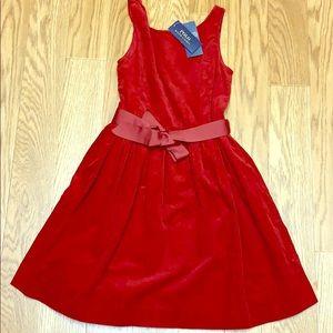 NWT POLO Ralph Lauren red corduroy tank dress